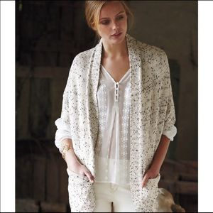 Anthropologie Moth Flickered Cocoon Cardigan